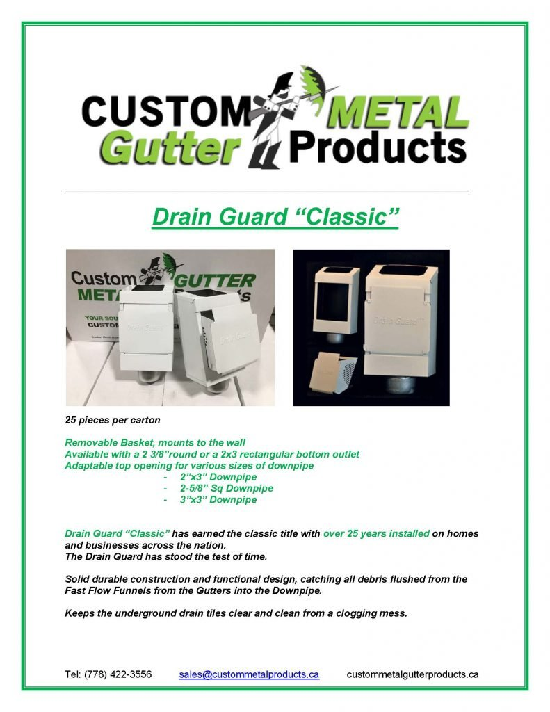 Drain Guard Classic Fact Sheet