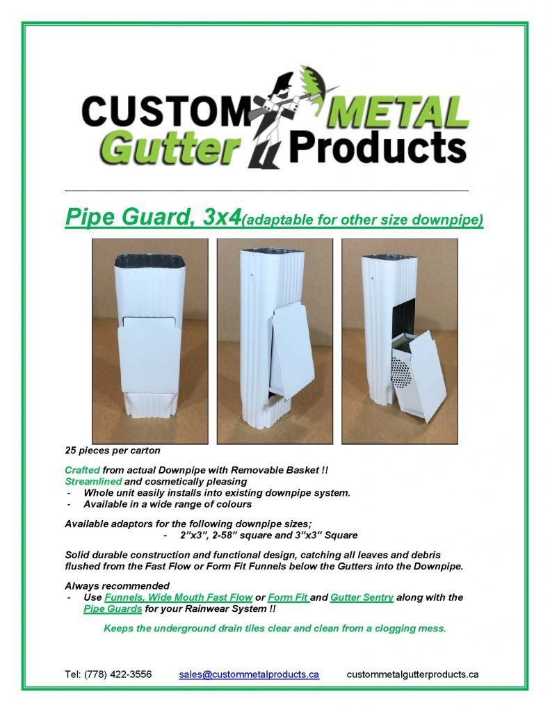 Pipe Guard 3x4 Fact Sheet