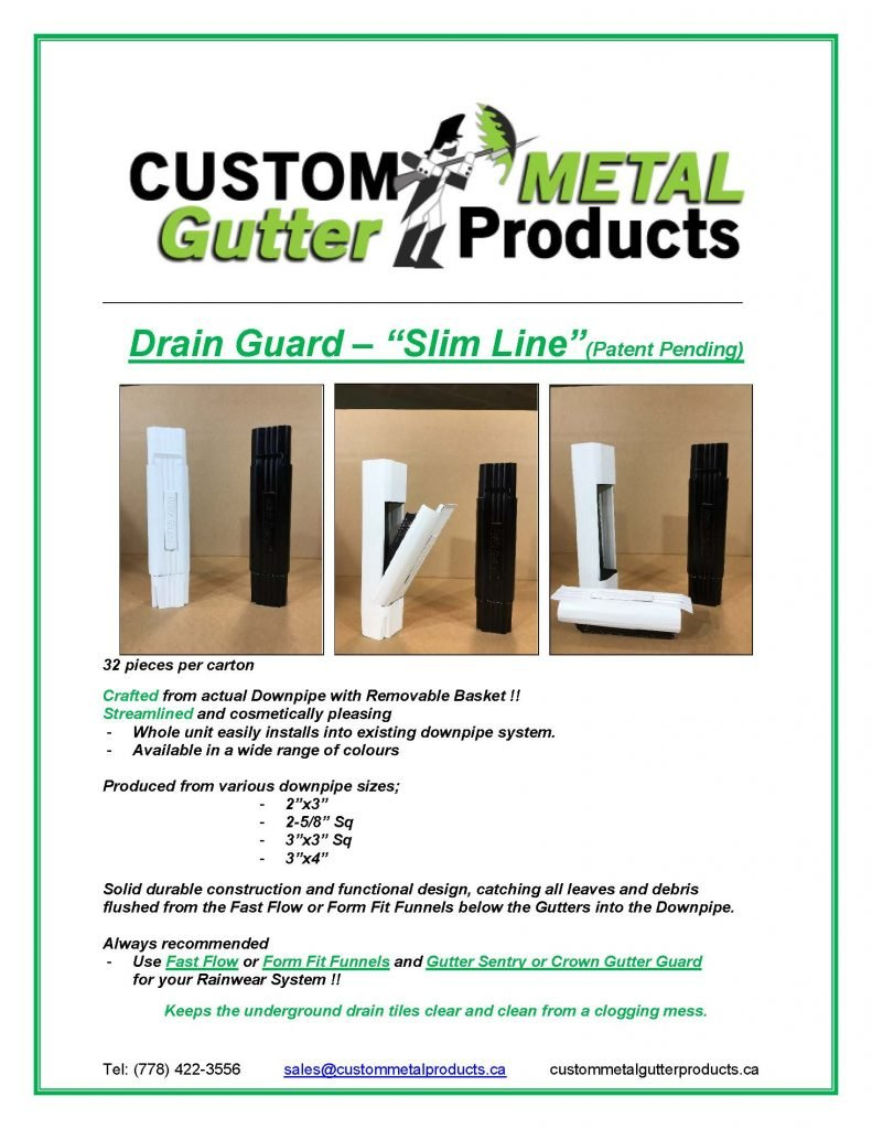 Drain Guard Slim Line Fact Sheet