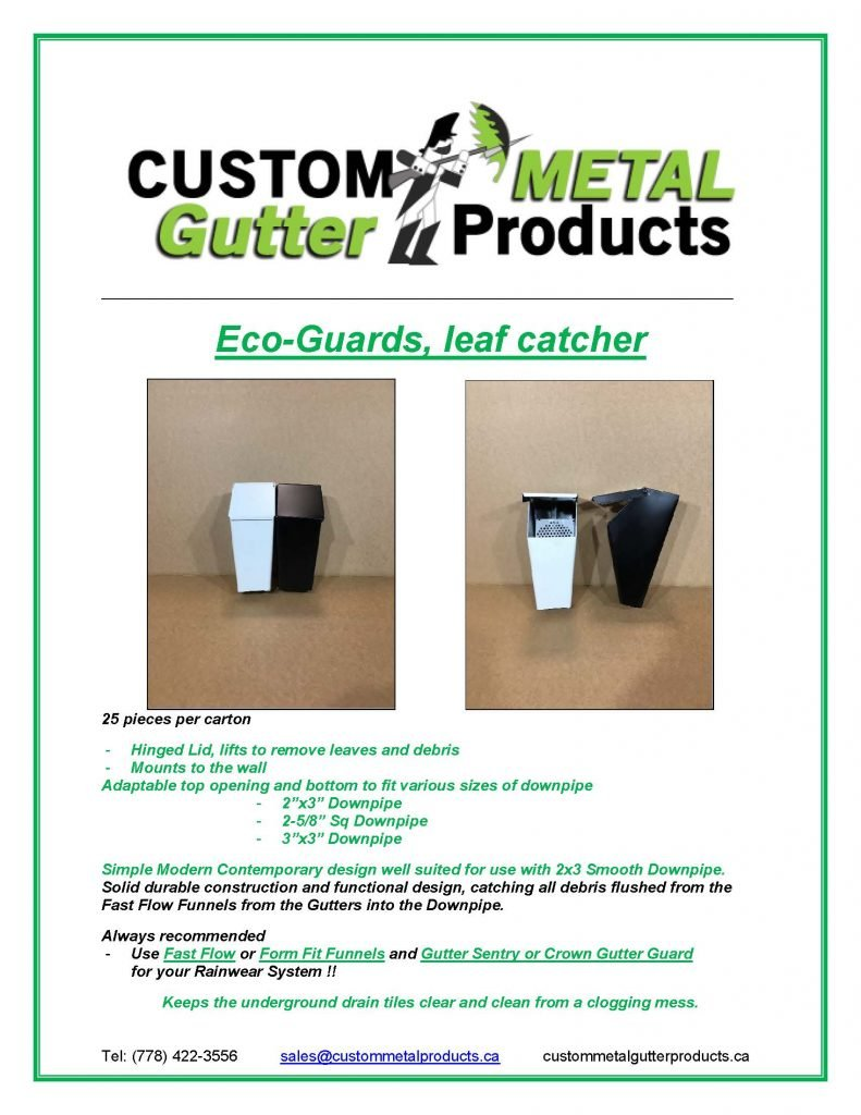 Eco-Guard Leaf Catcher Fact Sheet