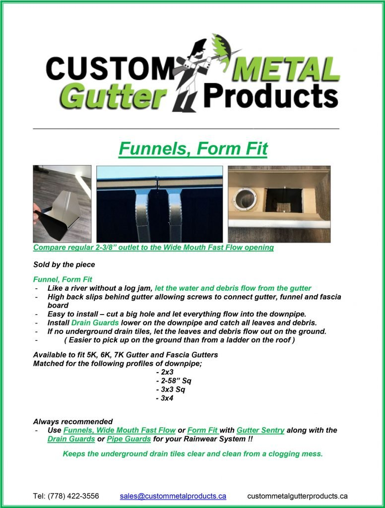 Funnel Form Fit Fact Sheet